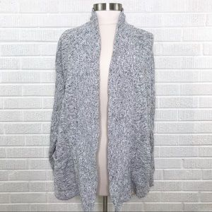 Madewell Harbor Cardigan Sweater Open Front Marled
